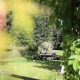 Im Garten trifft man sich mit den anderen Gästen