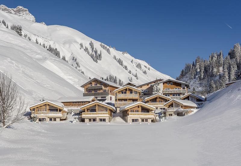 Die Aadla Walser Chalets im Winter