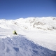 Im Winter wird gerodelt am Schnalstaler Gletscher