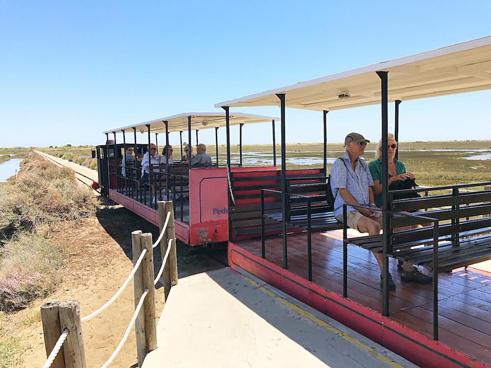 Der Zug, der Euch an den Strand von Barril bringt. Der Bummelzug ist gerade für Kinder eine Wucht!