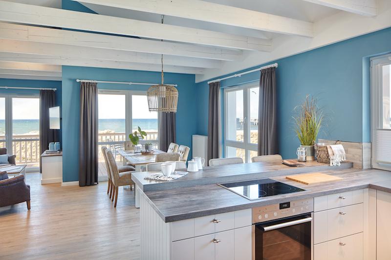 Die Küche In Einem Beachapartment Im Beach Motel   Mit Meerblick!