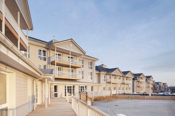 Das Beach Motel von außen - Hamptons pur!