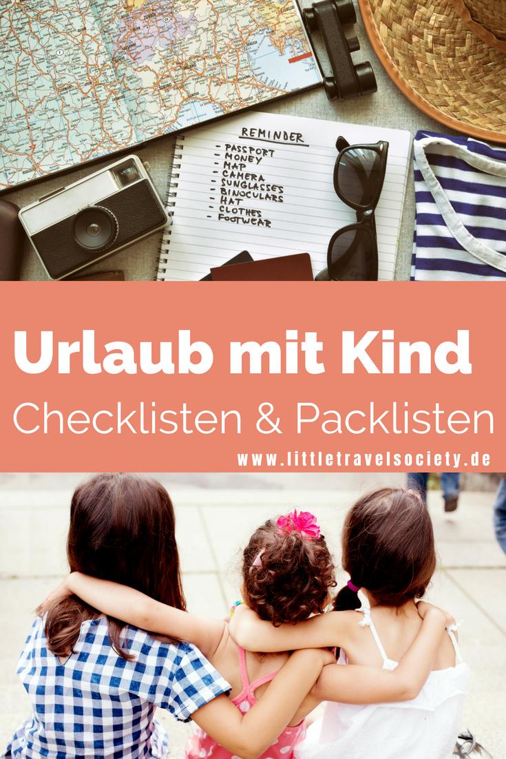 Die Ultimative Checkliste Fur Den Urlaub Mit Kind Zum Ausdrucken