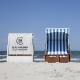 Auch am Strand in der ersten Reihe: Jede Cloud hat ihren eigenen Strandkorb am Strand