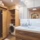 Badezimmer mit Sauna und Waschmaschine im Helena // Copyright Klaus Krumboeck