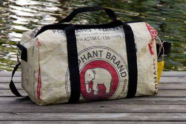 Elefantentasche aus Zementsäcken