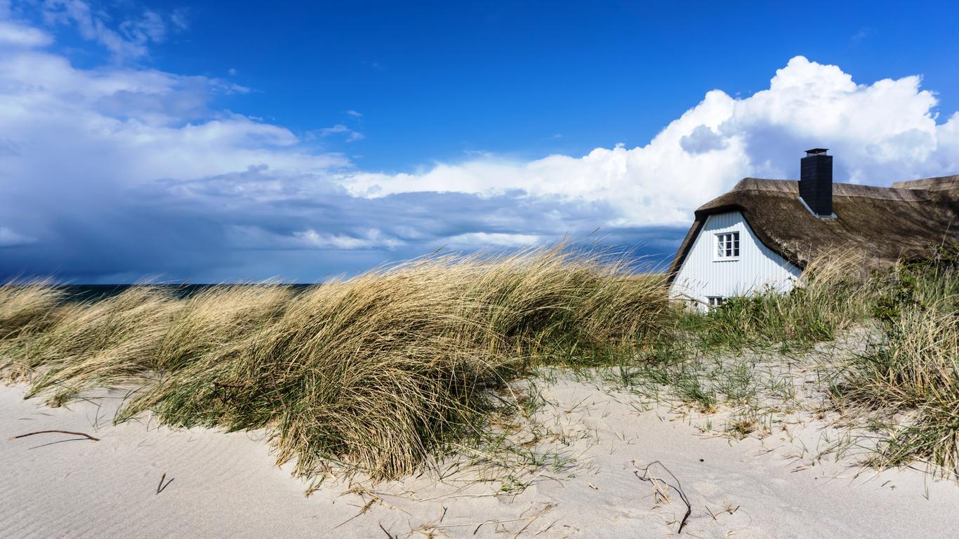 Mitten in den Dünen, die Ferienhäuser an der Ostsee