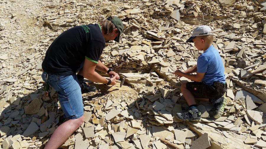 Wie echte Archäologen - Steineklopfen in Eichstätt!