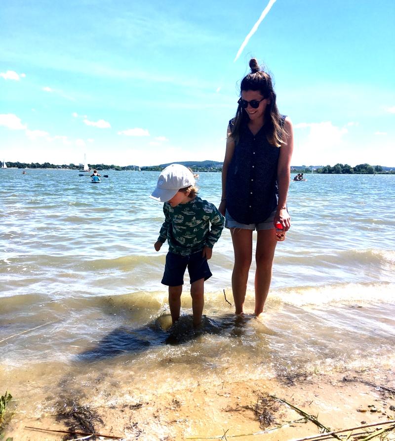 Meine Kollegin Nadine war für uns mit ihrem Sohn im fränkischen Seenland unterwegs
