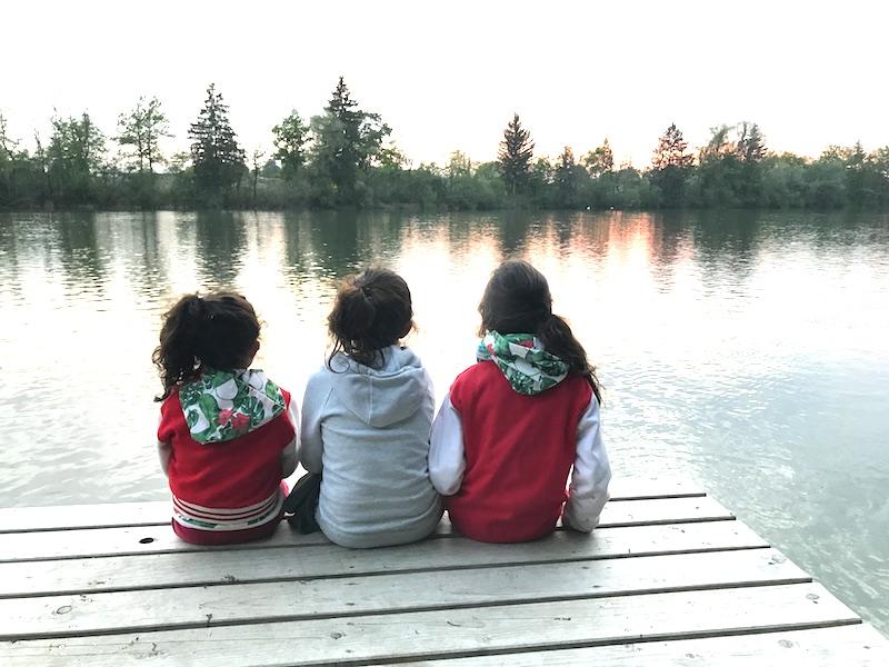 Selbst den Kindern wirds bei dem Panorama ganz melancholisch zumute...