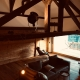 Der freigelegte Dachstuhl im Schindelhaus