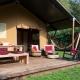 Jedes der Zelte wurde individuell eingerichtet.Das Zelt Kranvogel erinnert an Asien.