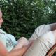 Ruhe und Entspannung - hier in der Hängematte vor dem Toscana.
