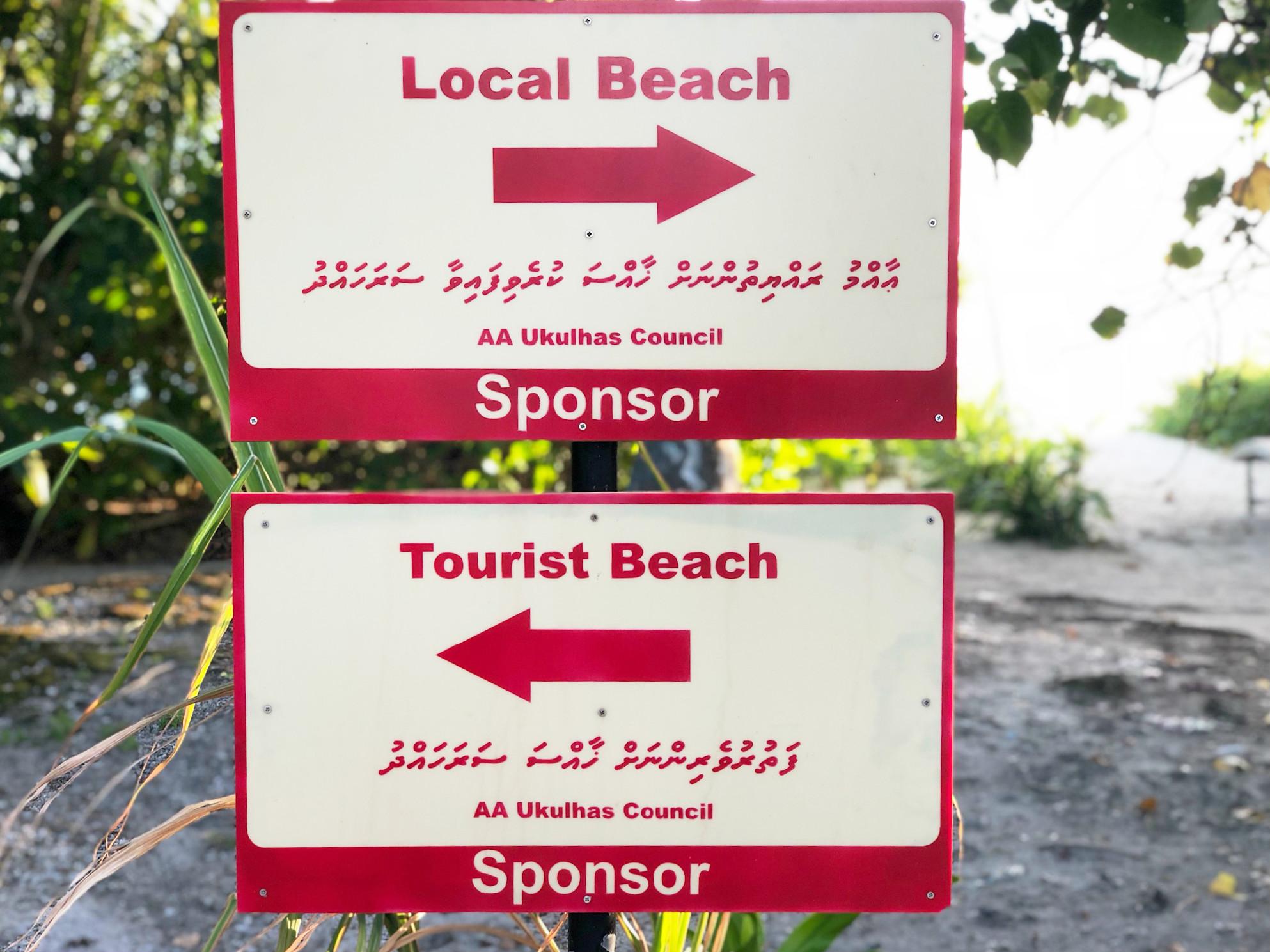 Ihr könnt natürlich auch am Local Beach vorbeischauen. Dann aber nicht im Bikini