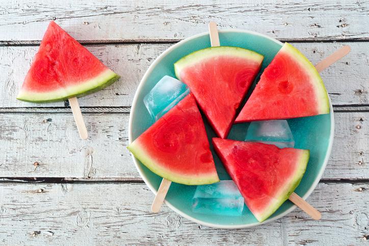 Wassermelone am Stil - lecker und gesund