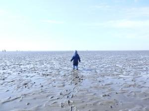 Nordsee mit Kindern: Das Watt vor der Nordseeinsel Büsum