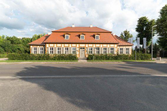 Schloss Beuchow in Luebbenau am Rande des Spreewaldes