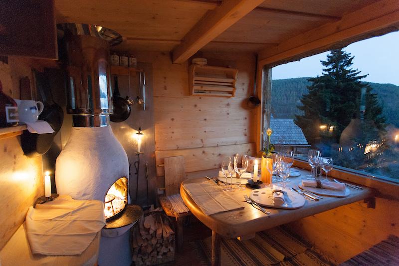 Das kleinste Restaurant der Welt: Die Holzknechthütte