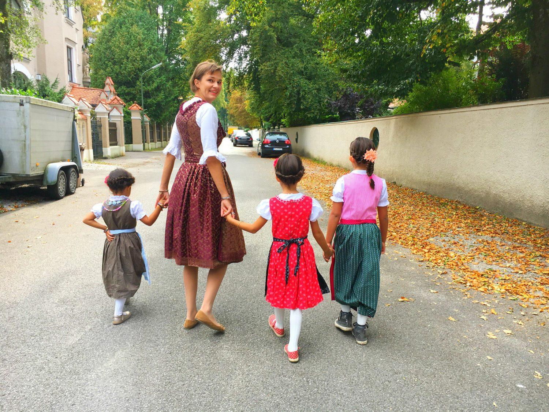 Auf dem Weg zum Oktoberfest mit den Kids - wie jedes Jahr!
