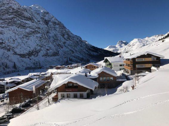 Das Stäfeli im Vorarlberg vom Sessellift aus fotografiert
