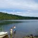 Herrlich weite, aber flache Seen rundum