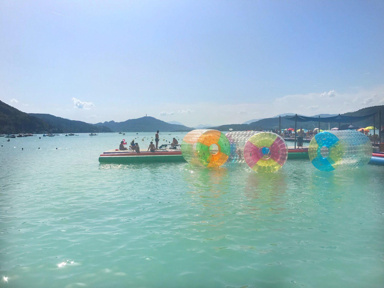 Aqua Run Bubbles im Klagenfurter Strandbad am Wörthersee