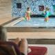 Die Minis planschen derweil im separaten Kinder-Pool