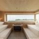 Auch in der Panorama-Sauna schaut Ihr direkt auf´s Meer