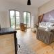 """Alle drei Wohnungen wurden von Verena und Holger individuell eingerichtet, wie hier ist das kuschelige Wohnzimmer im """"Utkiek"""""""