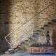 Die modernen, schwebenden Treppen im Haus Africa
