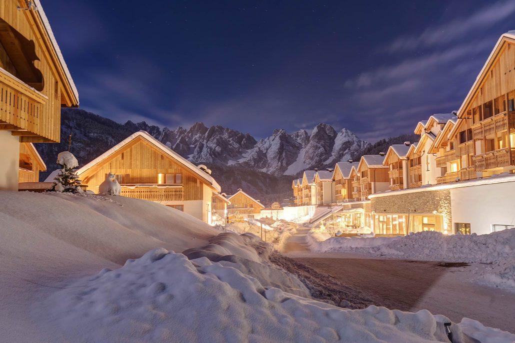Der Dachsteinkönig mit dem Dachsteingebirge im Hintergrund - Gänsehaut! (nicht nur weil es kalt ist....) (Foto: Dachsteinkönig)