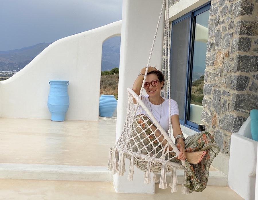 Das ist Sonja in den Stelani Villas im Süden Kretas