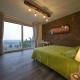 Das Schlafzimmer im Apartment Terra