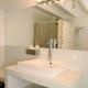 Schlicht und stilvoll geht´s auch in den Badezimmern zu