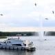 An der Drehbrücke in Malchow: Sind die Fontänen an, dürfen Booten passieren