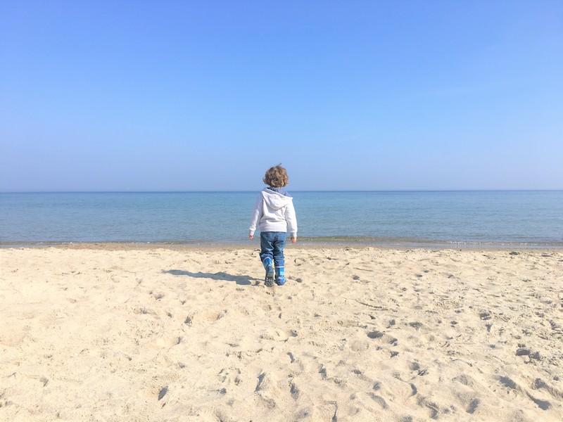 Ostsee mit Kindern - der ruhige Strand Haffkrug