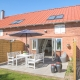 Jede Ferienwohnung im Lustrup Farmhouse hat eine eigene Terrasse