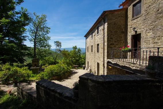 Das Haupthaus La Fattoria im Zentrum des Dorfes