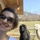 Selfie mit den Alpakas Espresso und Raffaelo (wer ist wohl wer?)