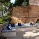 Die gemütliche Terrasse des Appartements Prigrizia