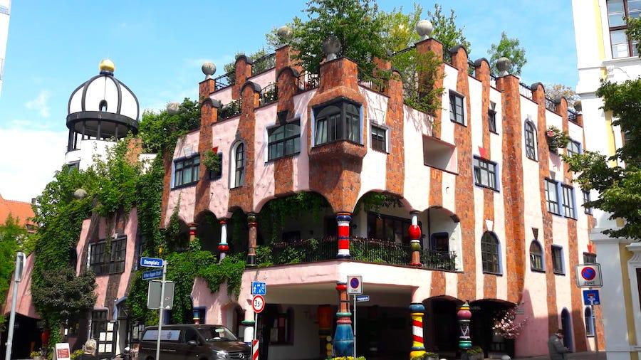 Das Hundertwasserhaus in Magdeburg