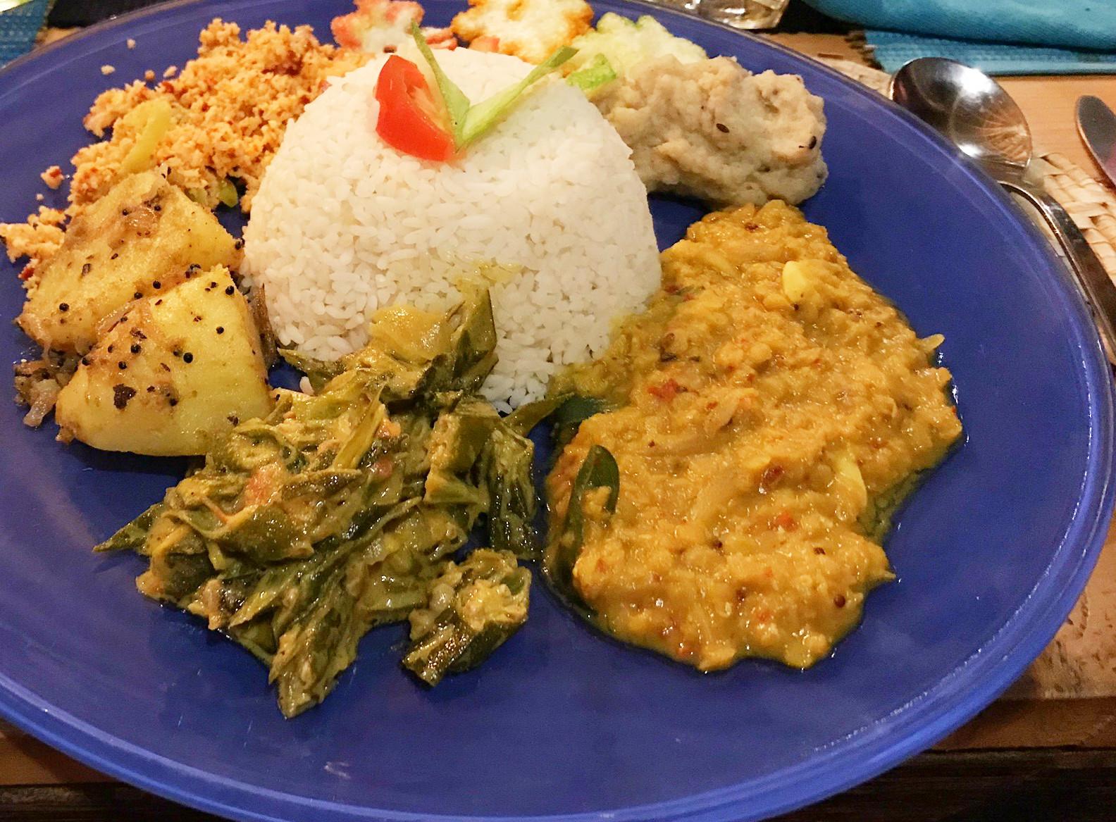 Sri Lanka mit Kindern: Woaaahh! Das Essen war so unglaublich lecker auf Sri Lanka. Und heikle Minis essen einfach nur den Reis...