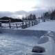 Der Openair-Jacuzzi des Svansele Gard in der Winterlandschaft!