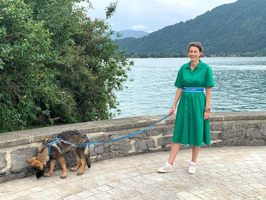 Die Autorin Sonja am Tegernsee