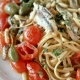 ...und dazu frische Pasta mit Meeresfrüchten! Hach, bella Italia