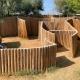 Superleckeres Restaurant mit Kinder-Labyrinth im Lido Bosco Verde